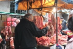 Meat at the morning market