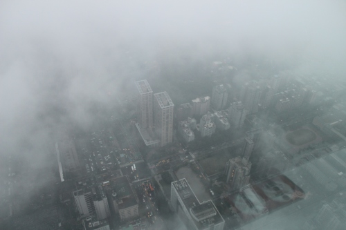 Taipei 101 in the clouds