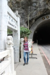 I am standing in front of the entrance to Skakadang Trail in Taroko National Park.