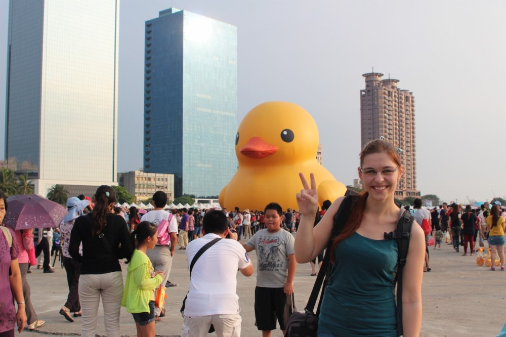 Me with Yellow Duck Kaohsiung
