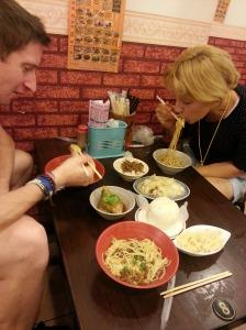 Abendessen vor Radtour