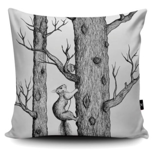 Cushion designed to fit to Cole and Son birch wallpaper Woods